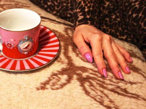Cup, Coffee cup, Nail, Red, Hand, Finger, Cup, Teacup, Drinkware, Pink,