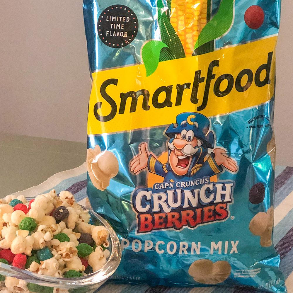 Smartfood S Cap N Crunch S Crunch Berries Popcorn Mix Is Officially Hitting Shelves It's an excellent source of seven essential vitamins and minerals, is low in fat, and contains zero grams of trans fat per serving. crunch berries popcorn mix