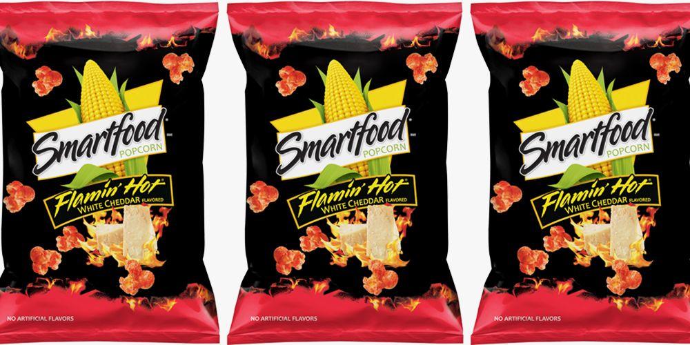 Smartfood S New Flamin Hot White Cheddar Popcorn Gives Us