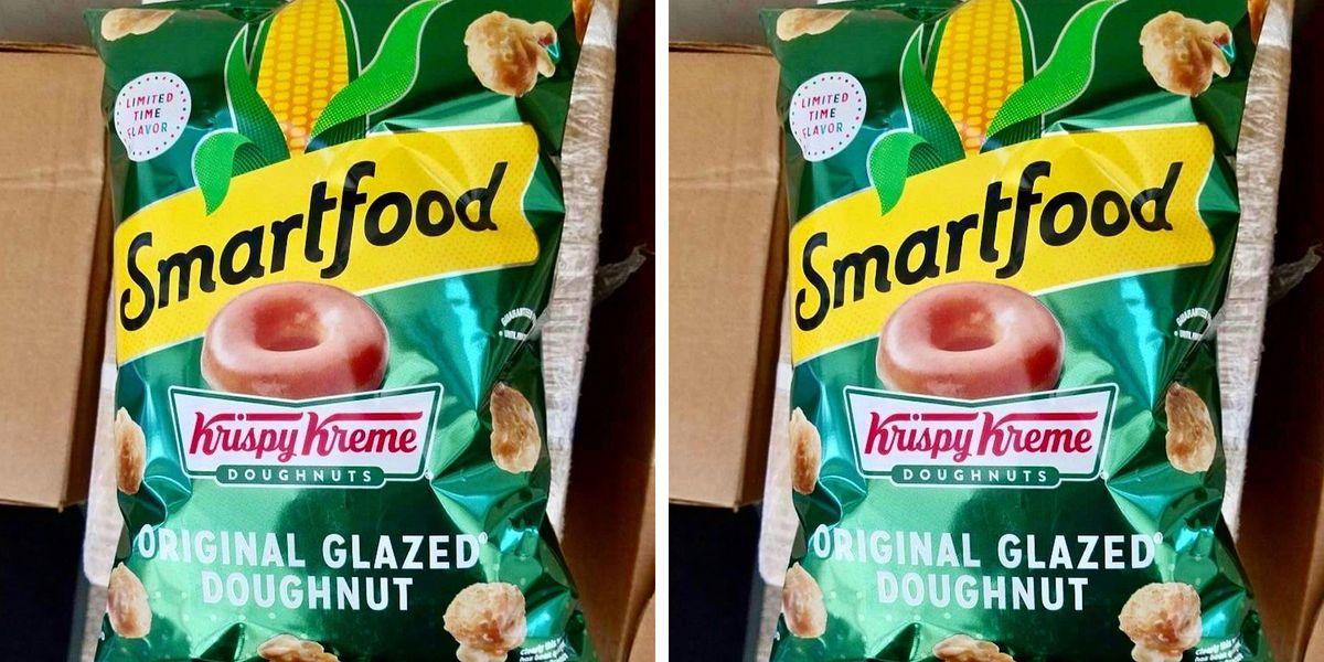 Smartfood Is Releasing Krispy Kreme Popcorn That Tastes Like an Original Glazed Doughnut