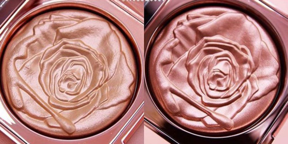 Smashbox rose highlighter petal metal