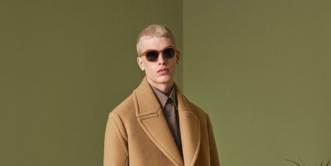 Clothing, Coat, Collar, Sleeve, Trousers, Khaki, Outerwear, Standing, Suit trousers, Formal wear,