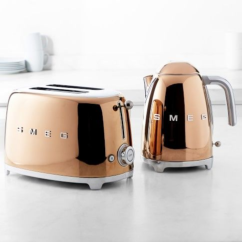 Smeg's New Limited-Edition Kitchen Appliances Are a Rose Gold Dream