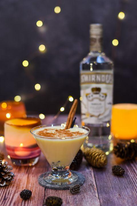 smirnoff vanilla eggnog martini