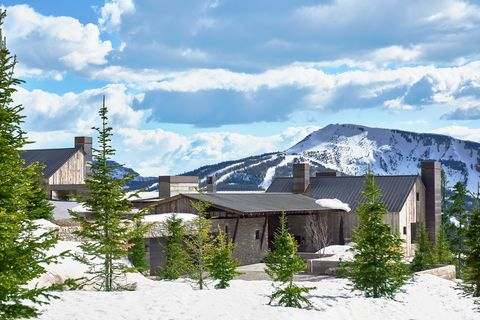 Property, Home, House, Mountain, Natural landscape, Real estate, Hill station, Roof, Tree, Building,