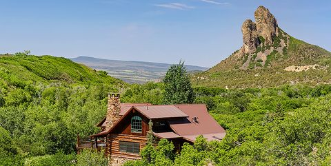 Natural landscape, Mountain, Mountainous landforms, House, Hill, Wilderness, Rural area, Sky, Cottage, Tree,