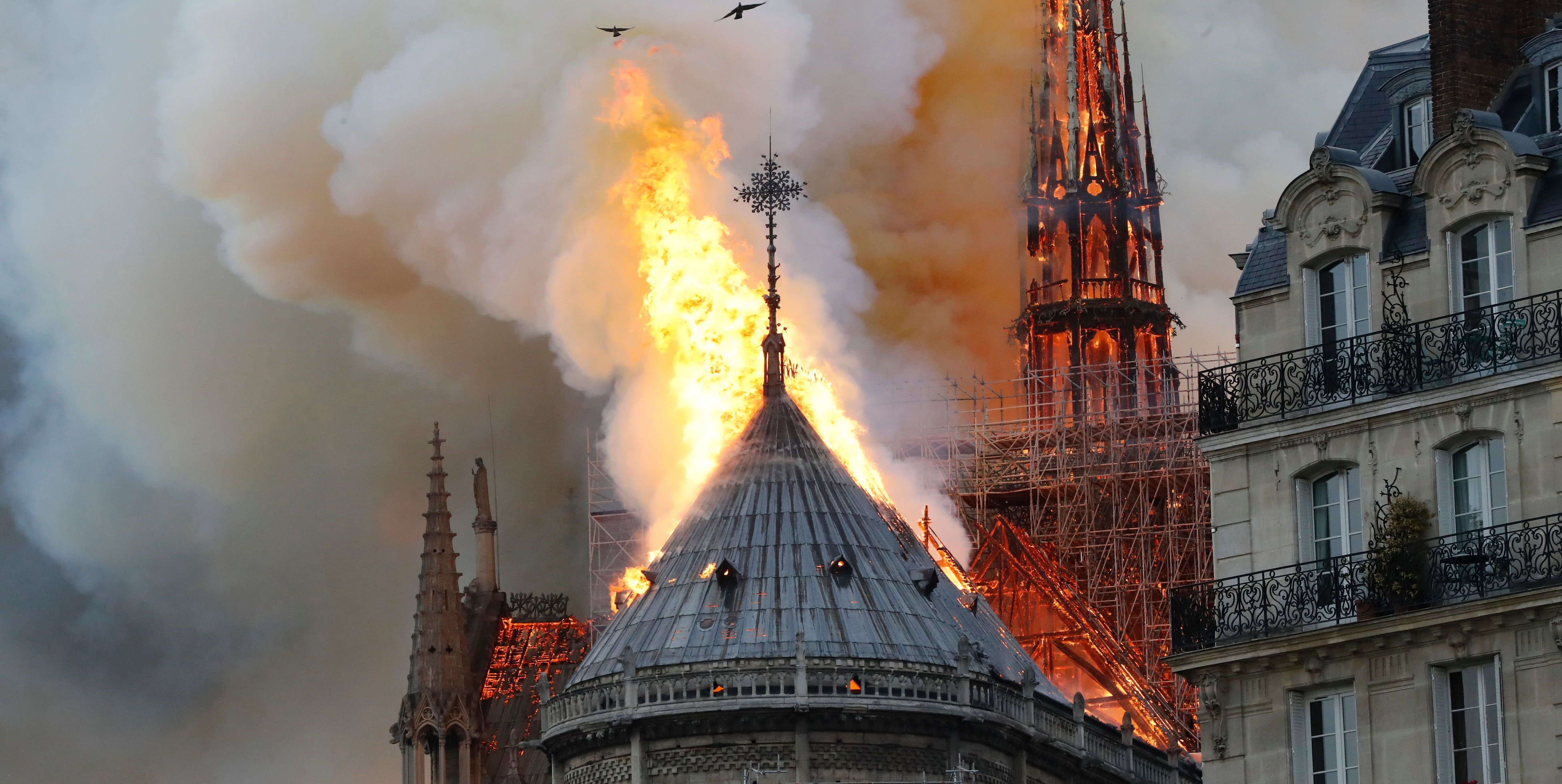 The Videos of Notre Dame Cathedral in Paris Burning Are Absolutely Horrific