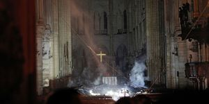 FRANCE-FIRE-NOTRE DAME fire damage day after