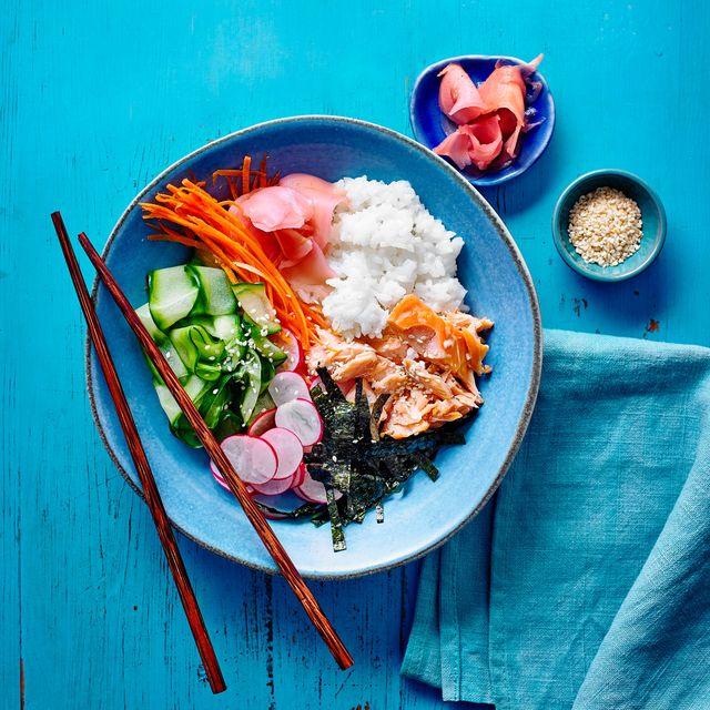 best fish recipes smoked salmon poke bowl