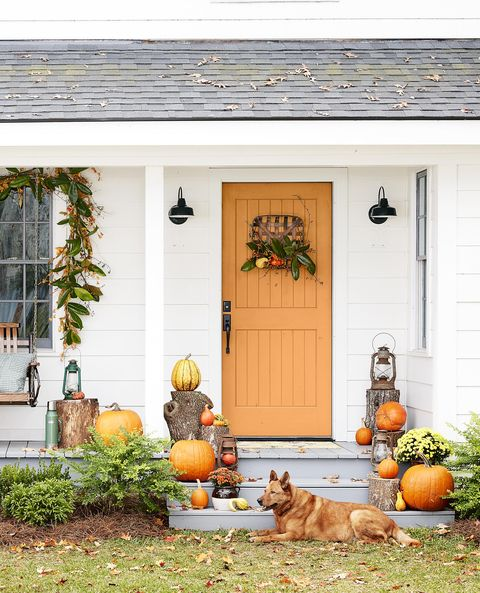 color fall doorway