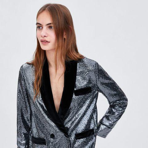 nuevo baratas nuevas imágenes de al por mayor El smoking de lentejuelas de Zara que va a solucionar tu ...
