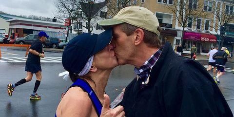 Barbara Tatge Boston Marathon Kisser