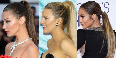 Smooth, sleek ponytails