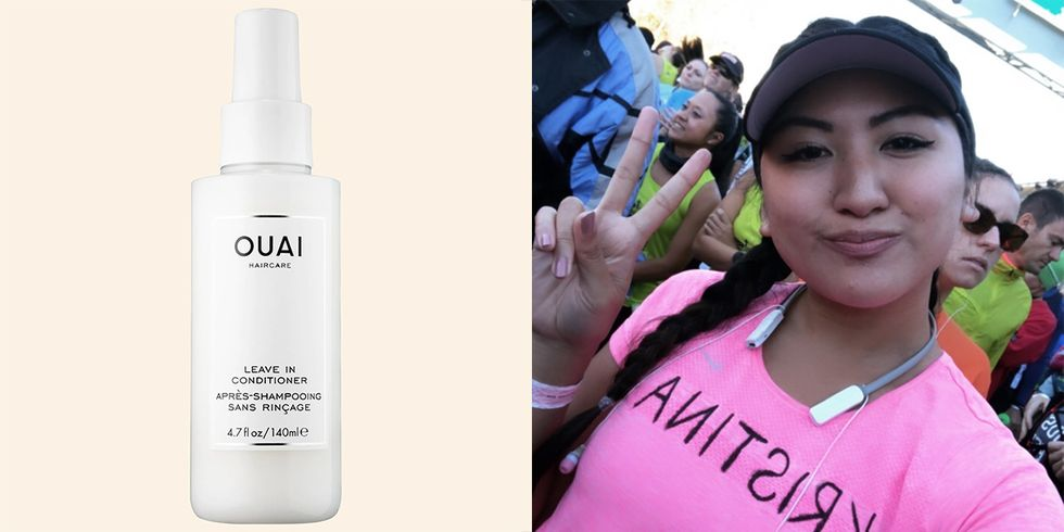 This Spray from Ouai Kept My Marathon Hair From Looking Like a Hot Mess