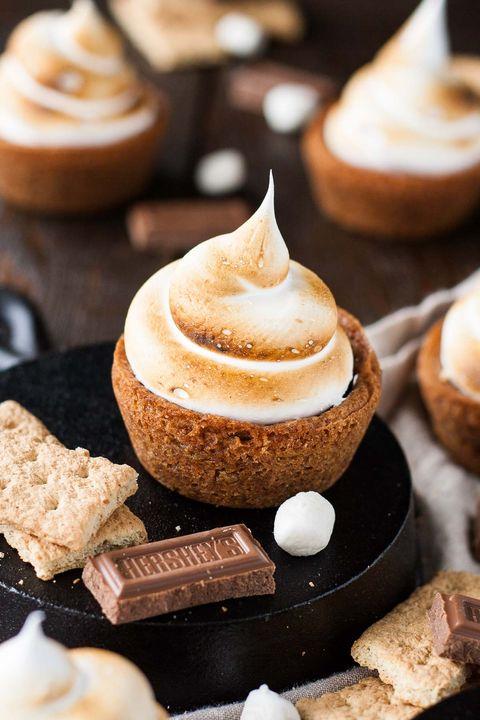 smores dessert recipes cookie cups