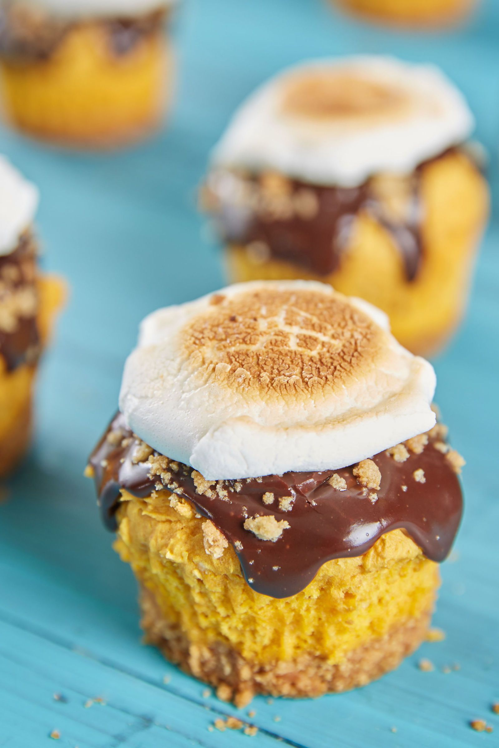 s'mores pumpkinthanksgiving cupcake recipe