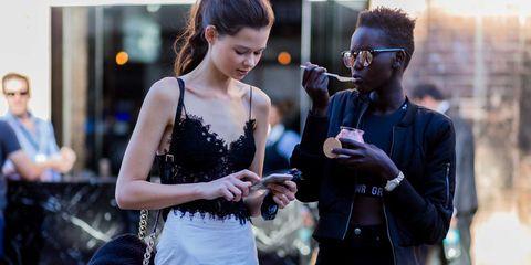 Photograph, Fashion, Street fashion, Snapshot, Eyewear, Photography, Hand, Gesture, Glasses, Dress,