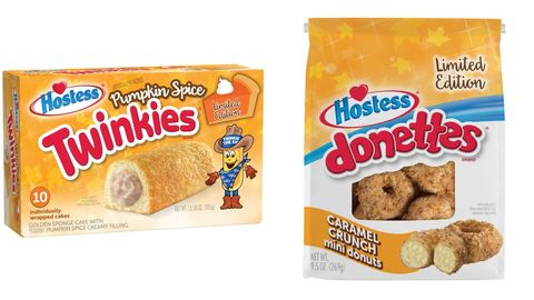 hostess twinkies and bag of donettes