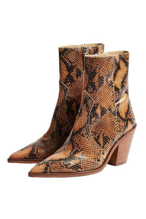 8114e51a9275 best animal print shoes - snake print boots. Topshop