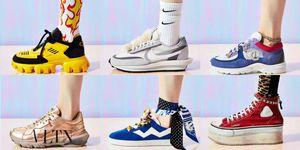 精品球鞋 Valentino Bounce、Nike x Sacai LDWaffle、Chanel、R19、Stuart Weitzman Daryl、Prada Cloudbust Thunder