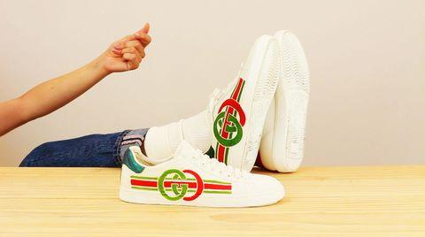 White, Footwear, Shoe, Joint, Sportswear, Finger, Hand, Font, Sneakers, Ankle,
