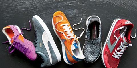 Cluster of sneakers