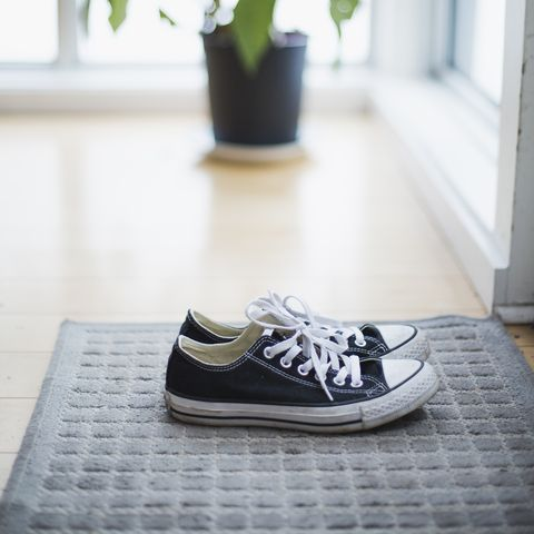 Sneakers on a carpet