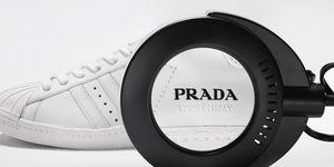 プラダとアディダスのコラボスニーカー