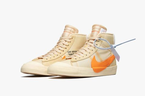 Shoe, Footwear, Sneakers, White, Beige, Orange, Yellow, Sportswear, Hiking boot, Athletic shoe,