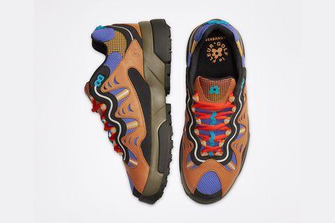 Footwear, Shoe, Orange, Sneakers, Athletic shoe, Outdoor shoe, Plimsoll shoe, Skate shoe,