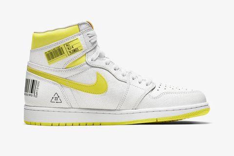 Shoe, Footwear, White, Yellow, Sneakers, Product, Walking shoe, Outdoor shoe, Athletic shoe, Basketball shoe,