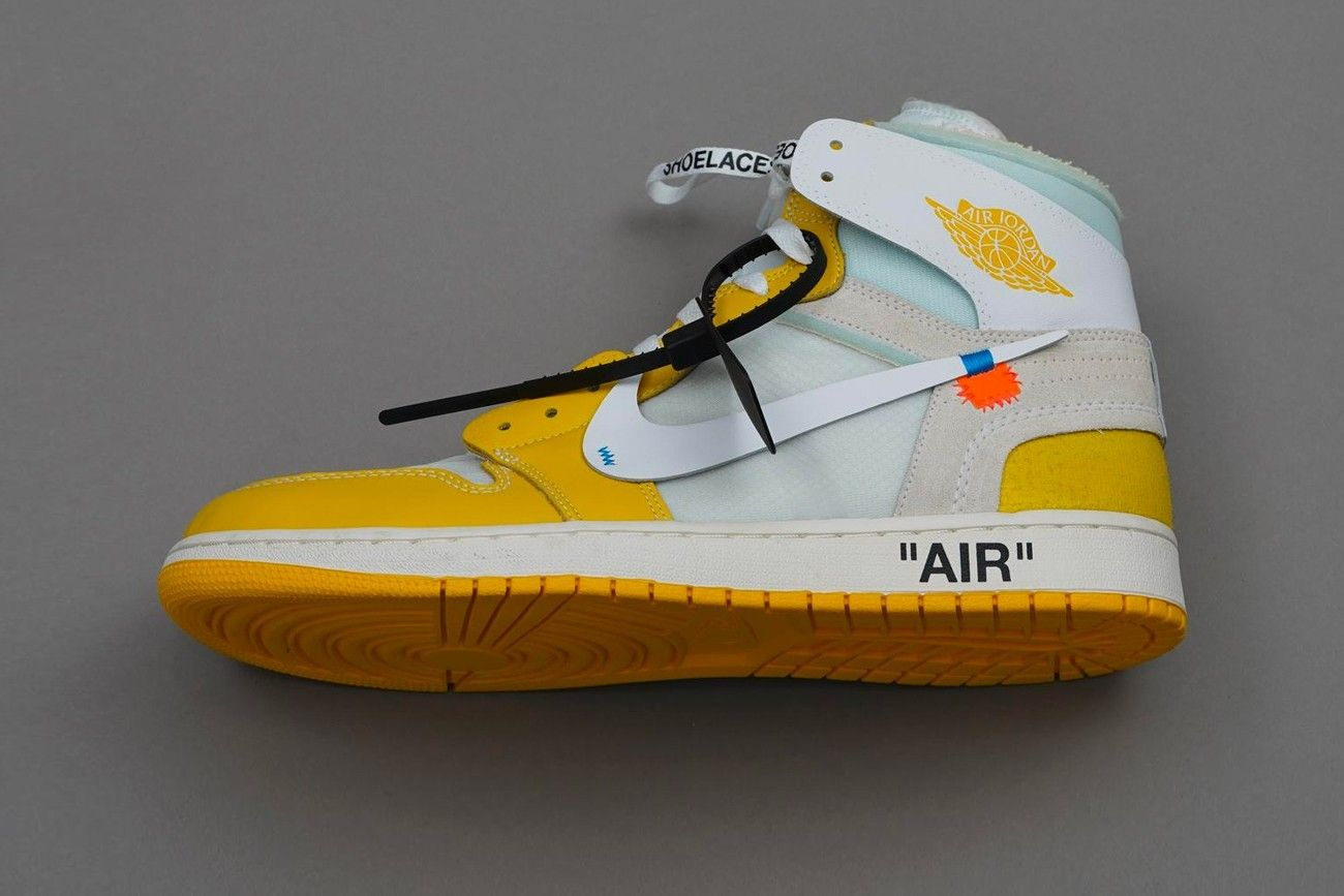 Le sneakers Nike di Off White gialle arrivano finalmente nel