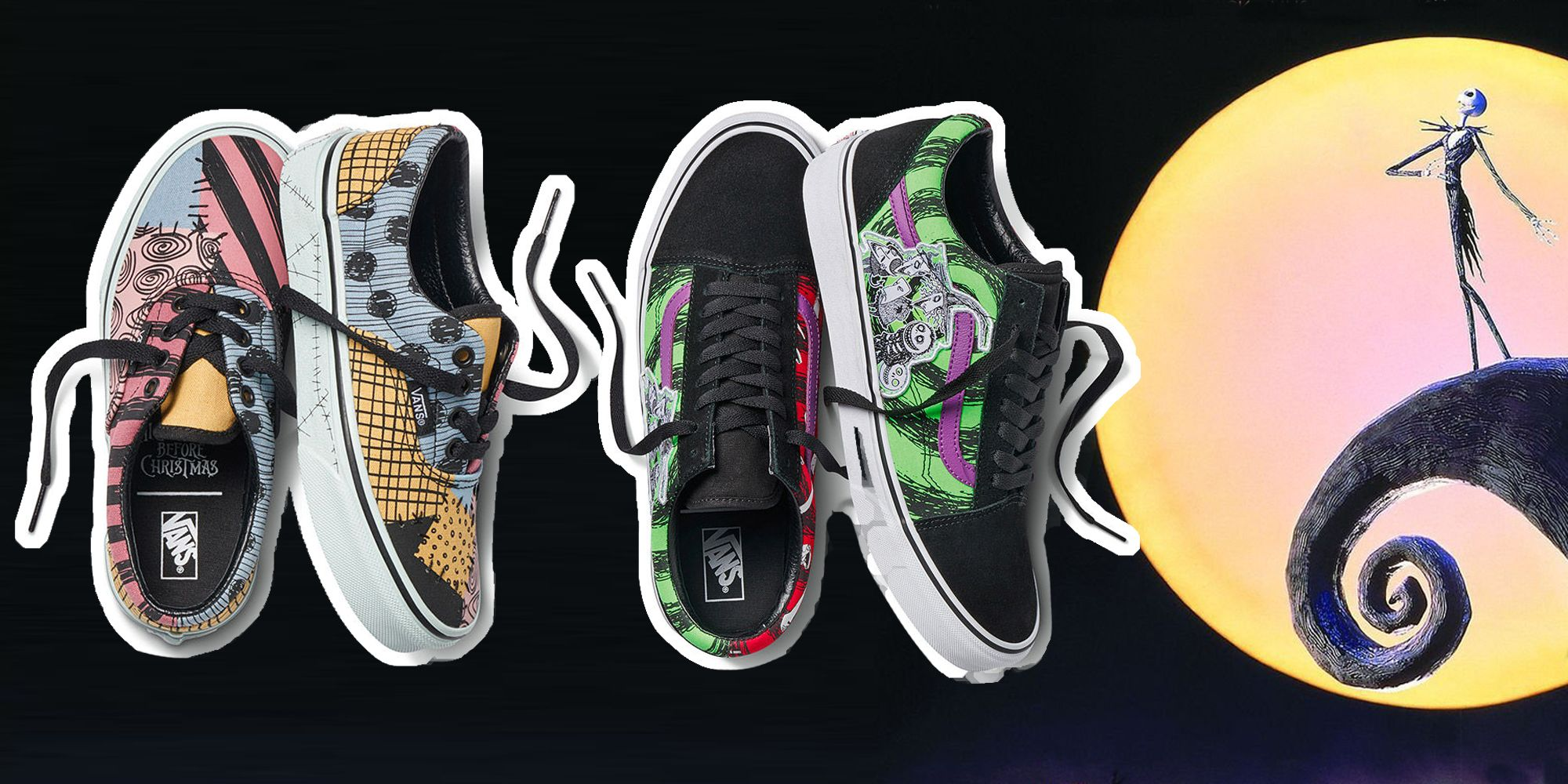 Sneakers Vans x The Night Before Christmas, Halloween 2019