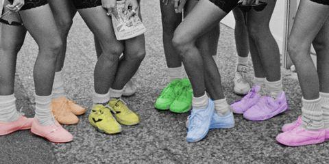 Footwear, Human leg, Leg, Shoe, Pink, Ankle, Child, Joint, Calf, Foot,