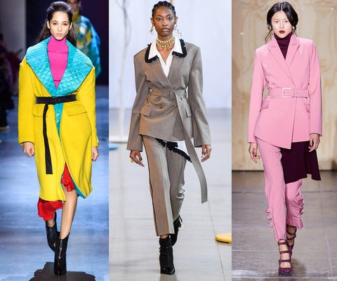 Fashion, Fashion model, Clothing, Runway, Pink, Coat, Suit, Outerwear, Fashion show, Pantsuit,