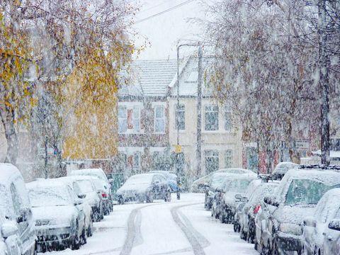 Snow fall in Britain