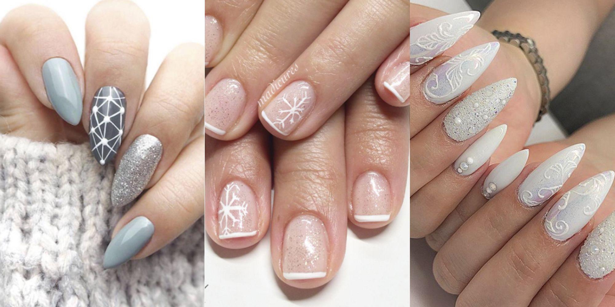 9 Cute Snowflake Nail Designs Snowflake Nail Art Ideas For A Winter