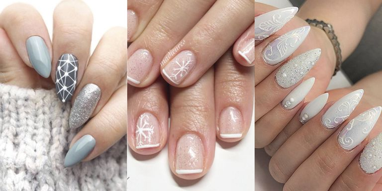 Courtesy - 9 Cute Snowflake Nail Designs –Snowflake Nail Art Ideas For A Winter