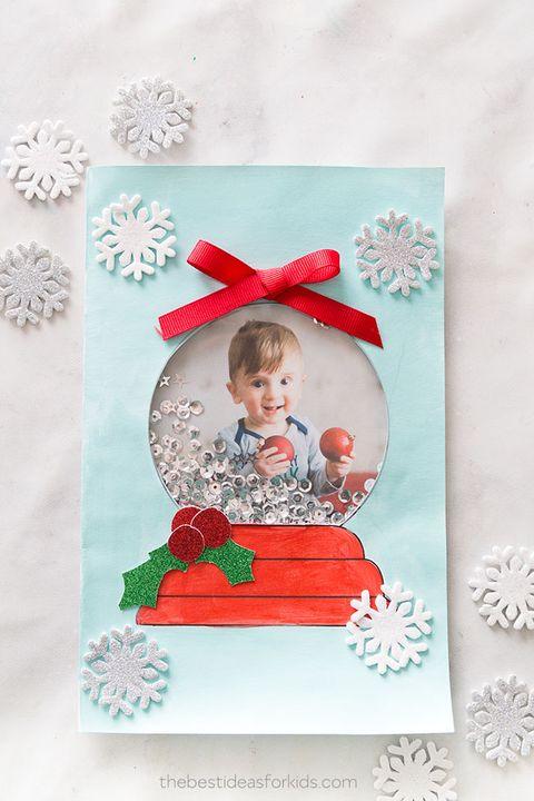 diy snowglobe card diy christmas cards