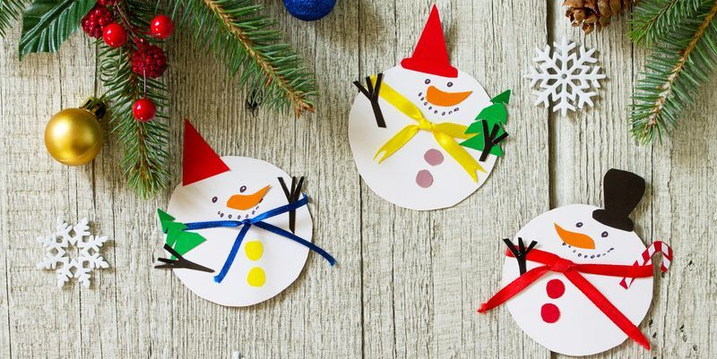 Homemade Holiday Country Snowman Christmas Ornament
