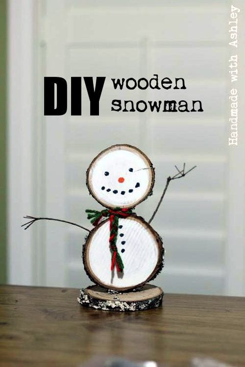 snowman craft wood