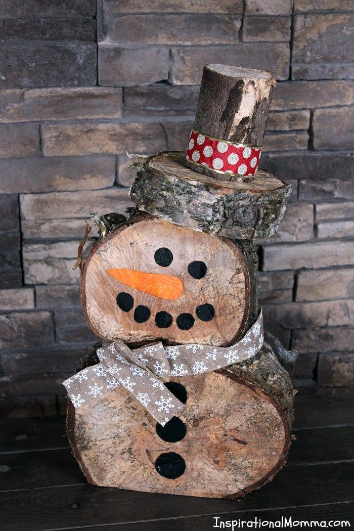 snowman crafts log