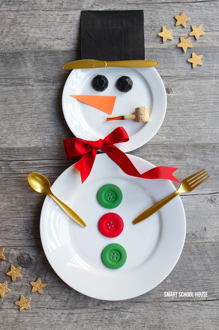 snowman crafts place setting