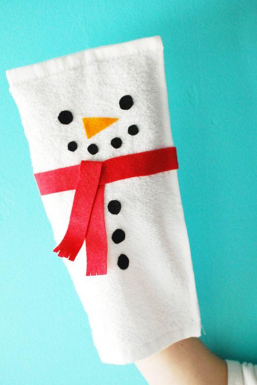 snowman crafts puppet