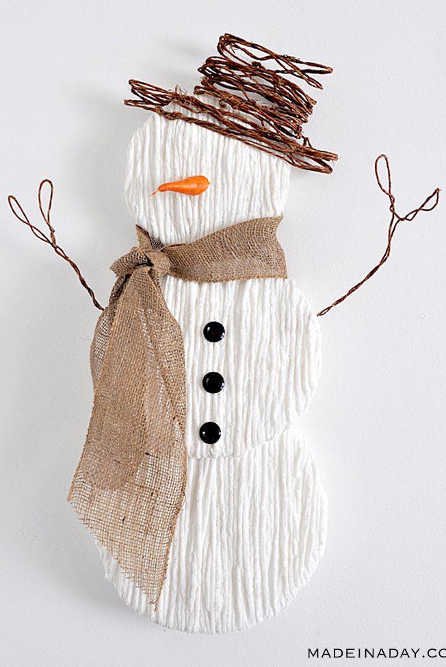 Snowman Crafts Rustic
