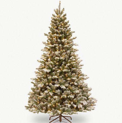 Snowy Sheffield lit Christmas tree 7.5ft