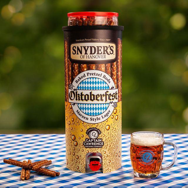 snyder's of hanover oktoberfest pretzel beer keg