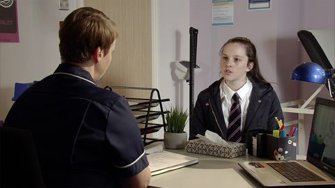 Amy Barlow visits a family planning clinic in Coronation Street