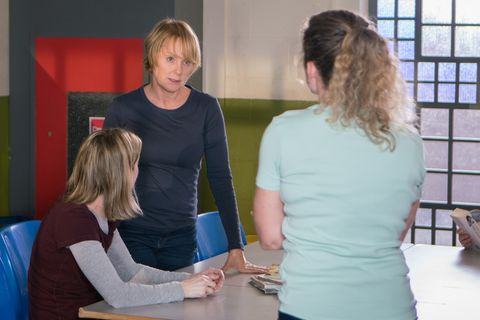 Sally Metcalfe clashes with Marcia in Coronation Street