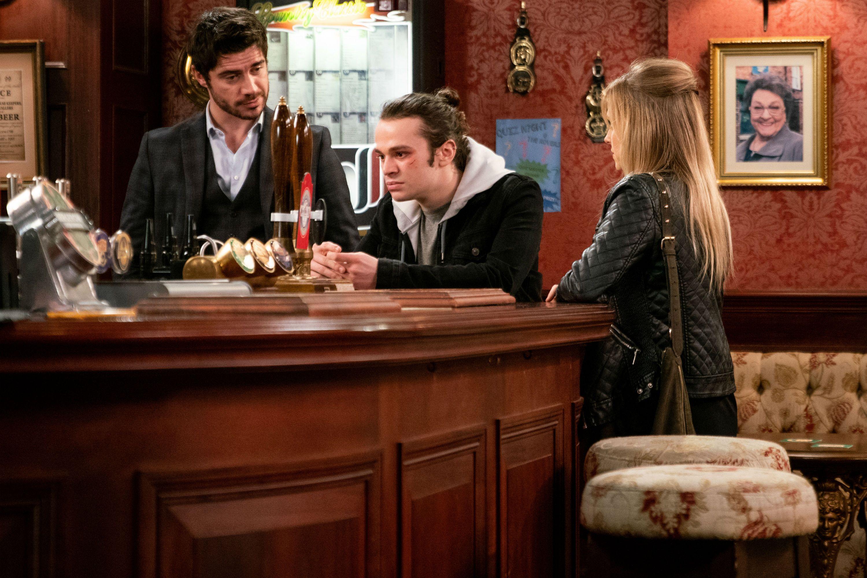 Sarah Platt has an idea for Seb Franklin and Adam Barlow in Coronation Street
